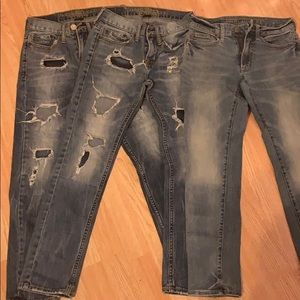 3 Pair 26x28 American Eagle jeans